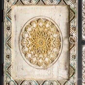 Aparador Jaipur Hierro/Madera 2 Puertas 5 Cajones (120x40x90) - 4