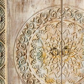 Vitrina/Alacena Jaipur Hierro/Madera 2 Puertas (80x35x150) - 3