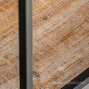 Vitrina/Alacena Jaipur Hierro/Madera 2 Puertas (80x35x150) - 4
