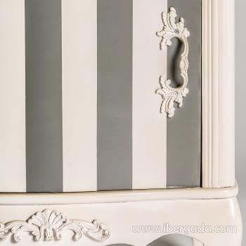 Mesita Provence Striped 1 puerta 1 Cajón (48x35x70) - 4