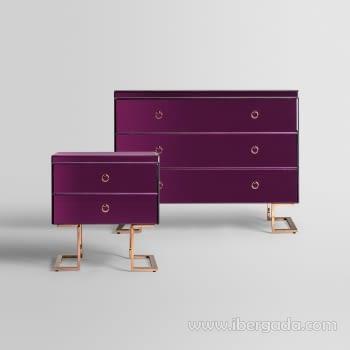 Cómoda Purple Fussion 3 Cajones (107x42x84) - 6