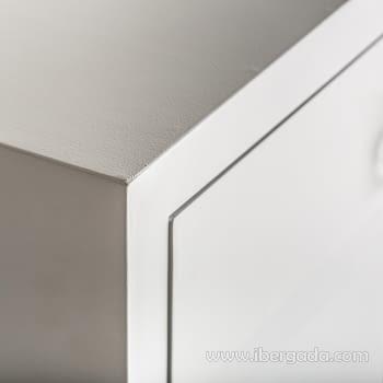 Cómoda Snow Blanca 3 Cajones (80x35x80) - 4