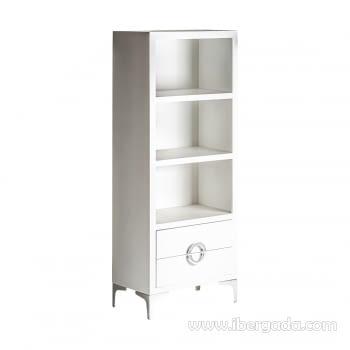 Libreria Snow Blanco (60x35x150) - 1