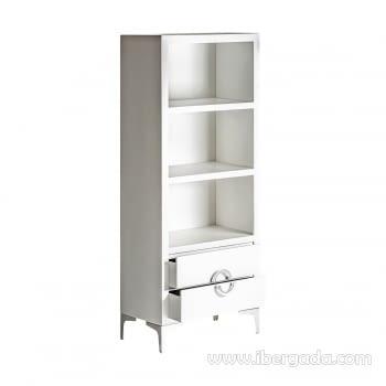 Libreria Snow Blanco (60x35x150) - 2