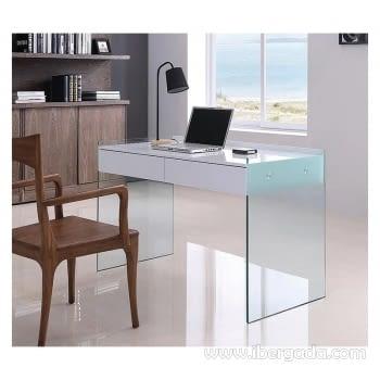 Mesa Escritorio Limoges Blanco/Cristal (120x60x75)