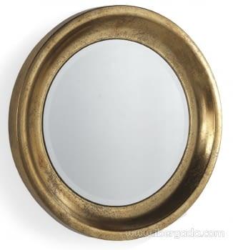 Espejo Metal Redondo Oro Envejecido (71x71)