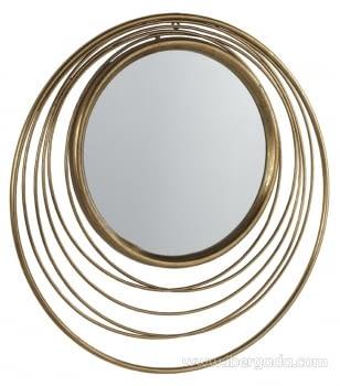 Espejo Metal Oro Envejecido (73x73)