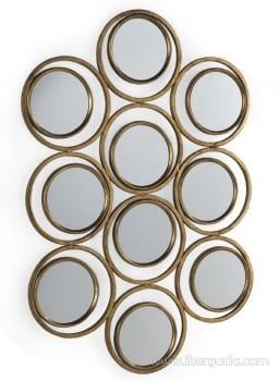 Espejo Metal Oro Envejecido (87x60)