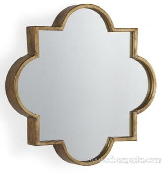 Espejo Metal Oro Envejecido (56x56)