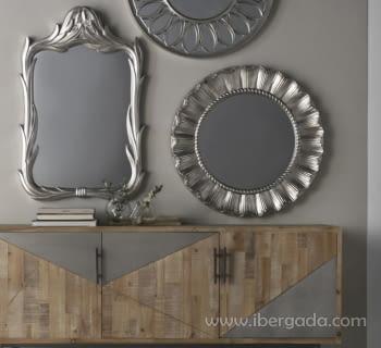 Espejo Redondo Plata (83x83) - 1