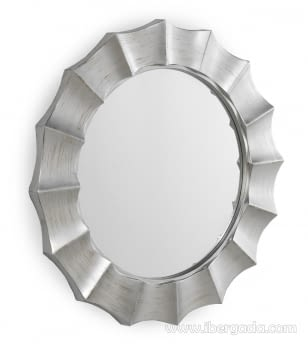 Espejo Redondo Plata (105x105)