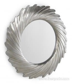Espejo Redondo Plata (100x100)