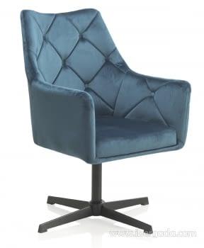 Sillón Giratorio Azul/Negro (67x68x99)