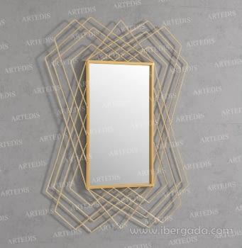 Espejo Rectangular Dione Dorado (110x80)