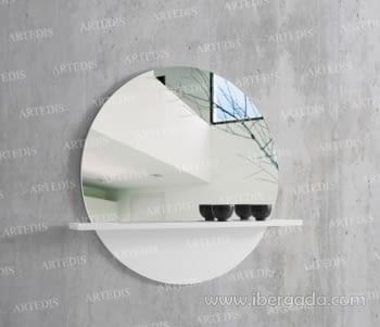 Espejo Con Estante Luna (100x90)
