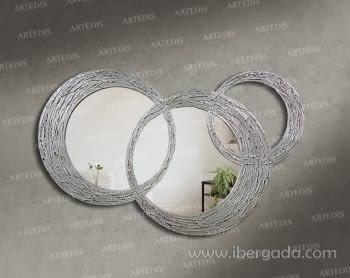 Espejo Bruselas Pan de Plata (120x80)