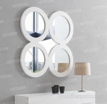 Espejo Cuatro Blanco (90x90)