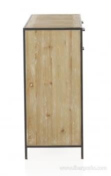 Comoda Dembledy Madera 2 Cajones 2 Puertas (90x40x90) - 4