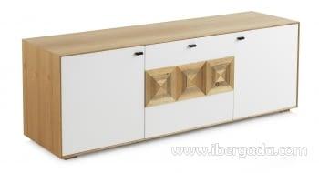 Mueble TV Cregan Madera 2 Puertas 1 Cajón (160x45x55)