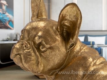 Figura Bull Frances Oro Pequeña - 3