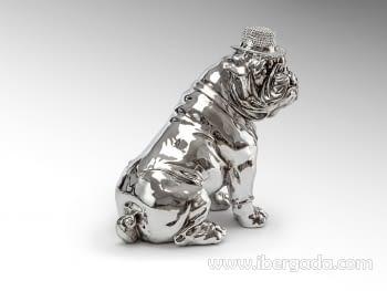 Figura Bulldog Hat Cromo - 2