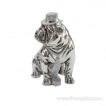 Figura Bulldog Hat Cromo - 5