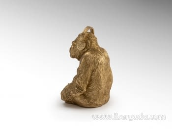 Figura Orangutan Music Oro - 3