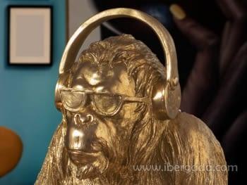 Figura Orangutan Music Oro - 4