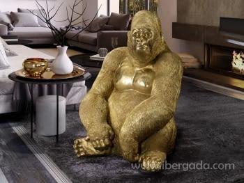 Figura Gorila Kong Oro Grande