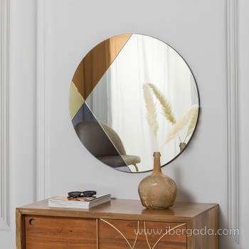 Espejo Redondo Art Deco Multicolor (70x70)