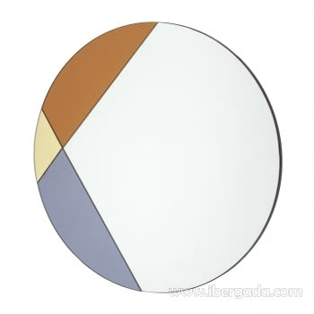 Espejo Redondo Art Deco Multicolor (70x70) - 1