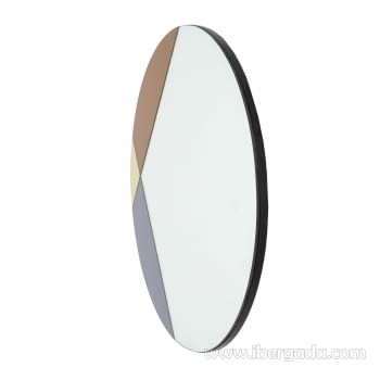 Espejo Redondo Art Deco Multicolor (70x70) - 2
