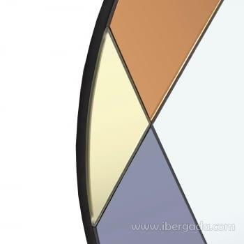 Espejo Redondo Art Deco Multicolor (70x70) - 3