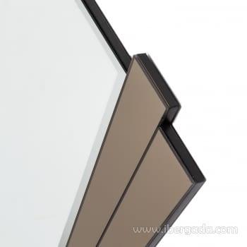 Espejo Redondo Art Deco Marrón (90x90) - 2