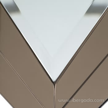 Espejo Redondo Art Deco Marrón (90x90) - 3