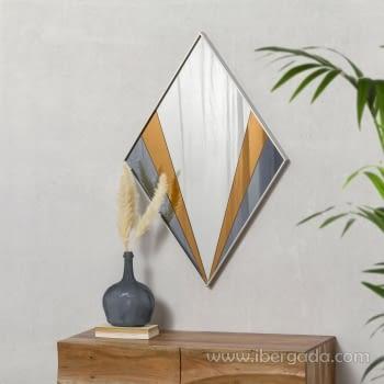 Espejo Art Deco Rombo Multicolor (90x60)