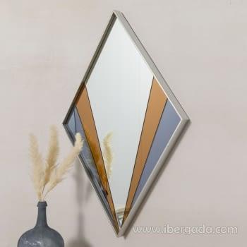 Espejo Art Deco Rombo Multicolor (90x60) - 4