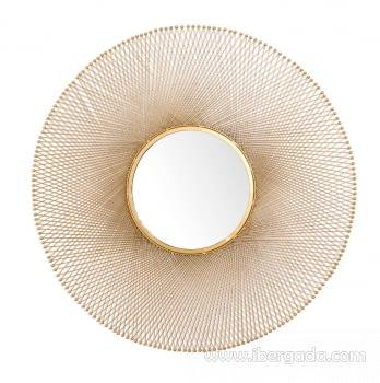 Espejo Metal Dorado (114x114) - 1
