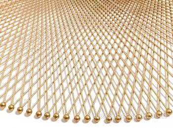 Espejo Metal Dorado (114x114) - 2