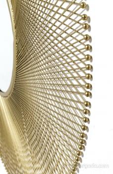 Espejo Metal Dorado (114x114) - 3