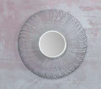 Espejo Metal Plata (80x80)