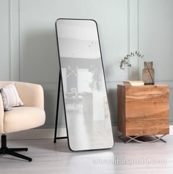 Espejo Vestidor Zenit Negro (150x50)