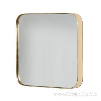 Espejo Cuadrado Zenit Oro (41x41)