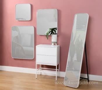 Espejo Cuadrado Zenit Blanco (41x41) - 2