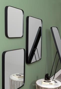 Espejo Cuadrado Zenit Negro (41x41) - 1