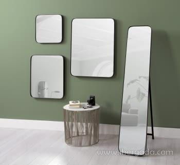 Espejo Cuadrado Zenit Negro (41x41) - 2