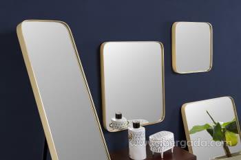Espejo Rectangular Zenit Dorado (50x60) - 3