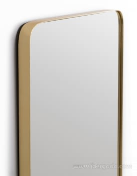 Espejo Rectangular Zenit Dorado (60x80) - 1