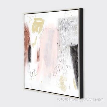 Juego de 2 Cuadros Abstractos Oleo (70x70) - 3