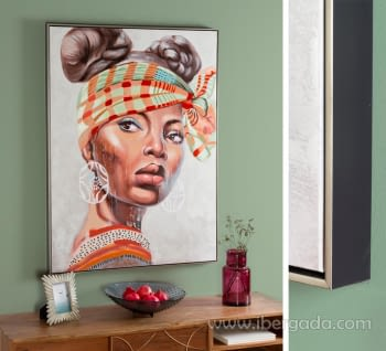 Cuadro Oleo Africana II (120x90)